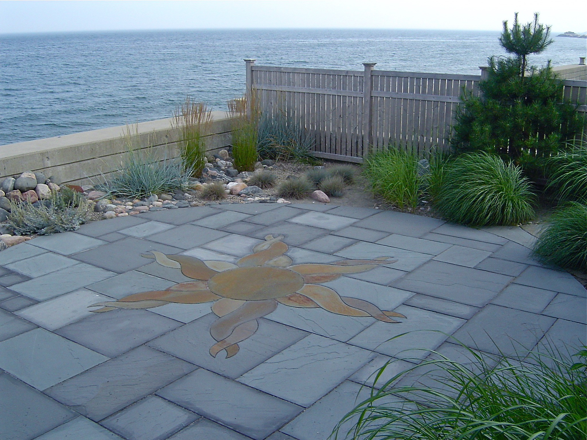 Bluestone Patio With Ocean View