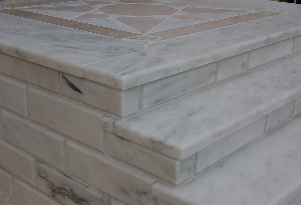 marble stairs detail
