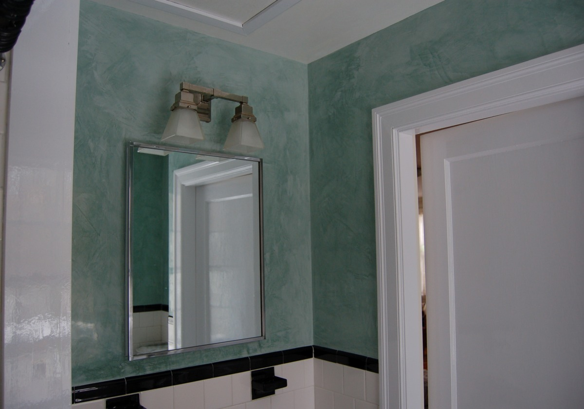 Venetian plaster cocciopesto tadelakt in the boston area for Venetian plaster bathroom ideas