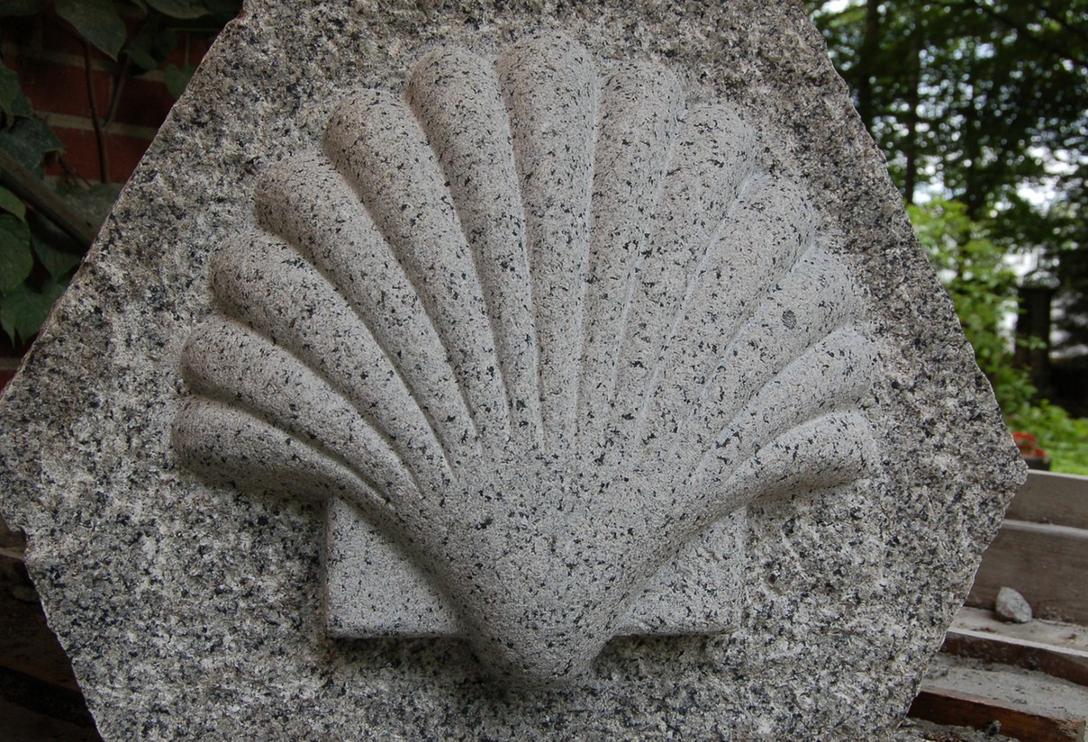 granite hand carved shell