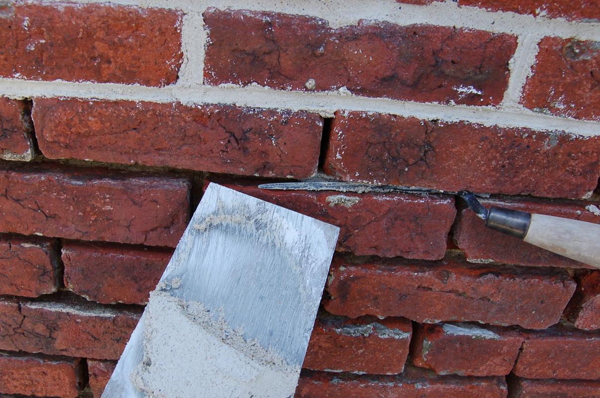 Masonry Fire Brick Mortars : Masonry restoration brick repointed with lime putty mortar